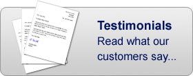 Testimonials. Read what our customers say...